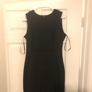Calvin Klein black shift dress size 8